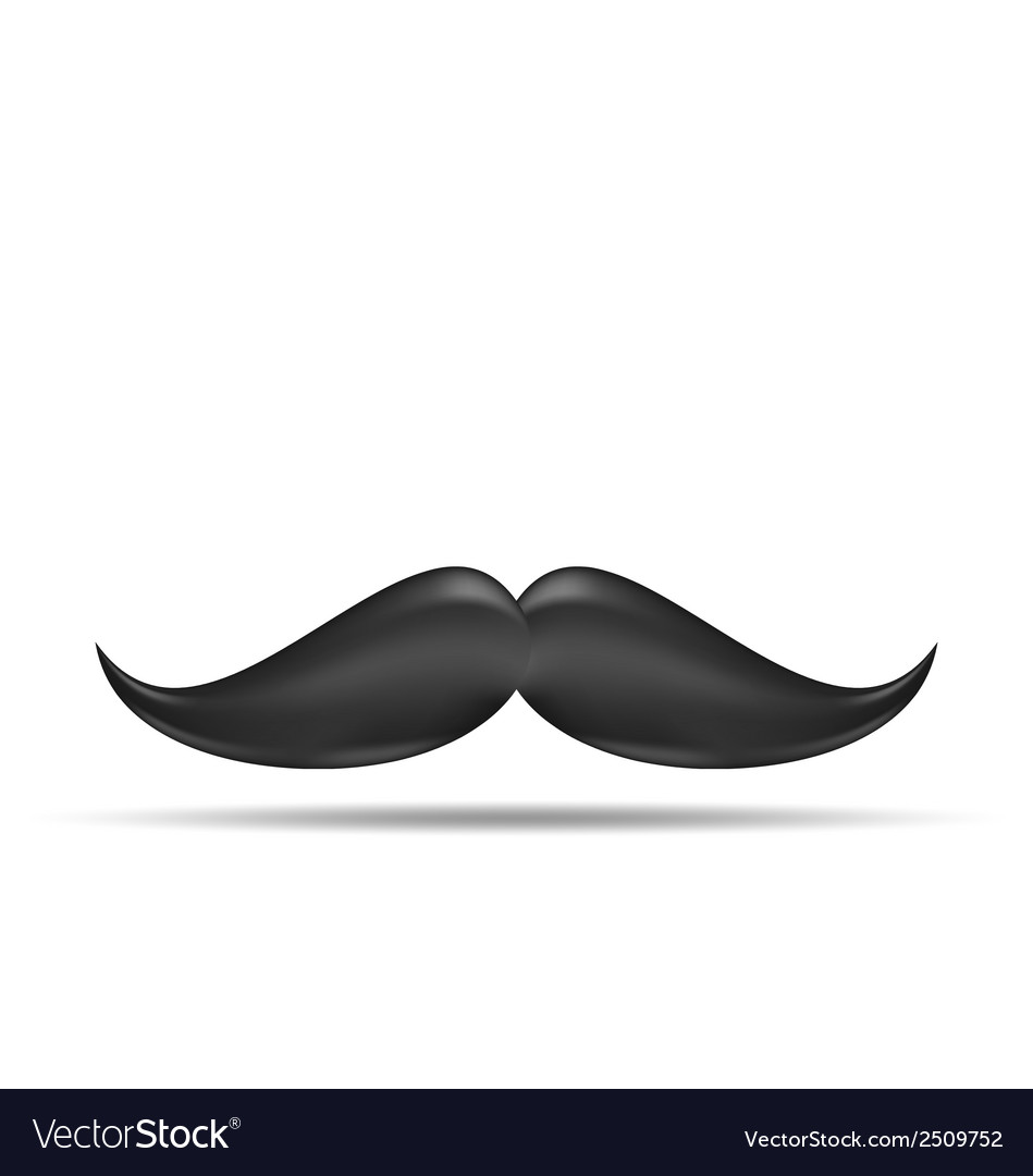Cute vintage cartoon black mustache isolated on vector | Price: 1 Credit (USD $1)