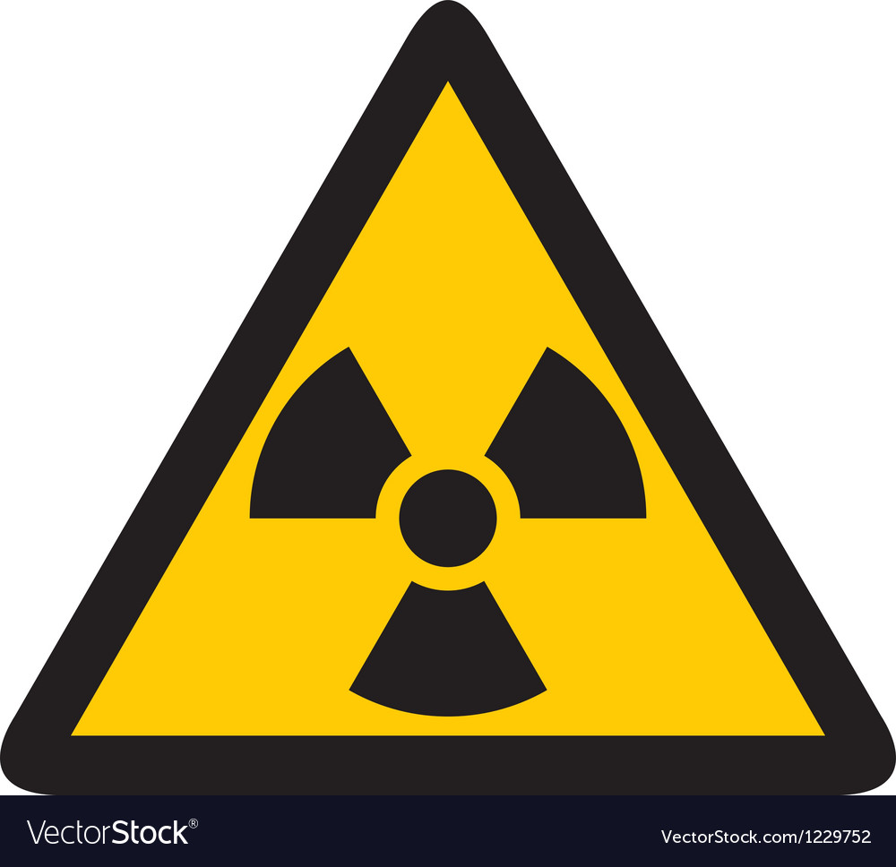 Nuclear warning symbol vector | Price: 1 Credit (USD $1)