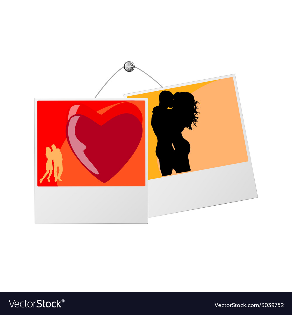 Photo frame with love couple vector | Price: 1 Credit (USD $1)