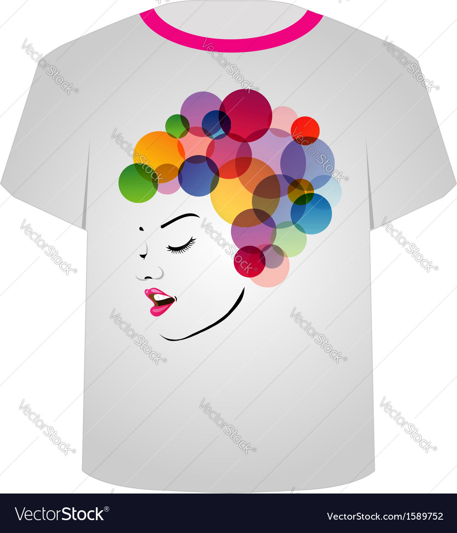 T shirt template- pretty face vector | Price: 1 Credit (USD $1)