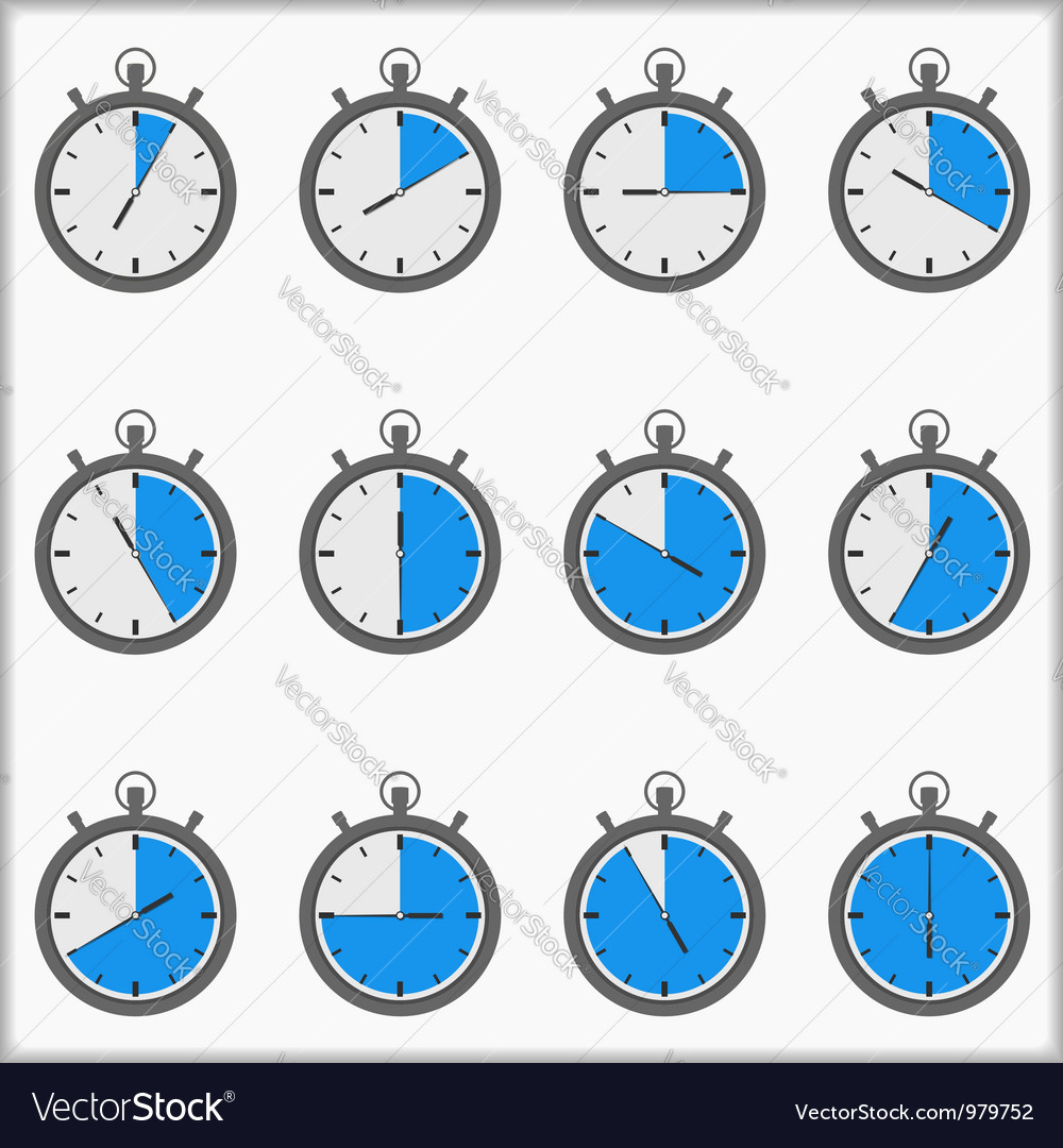Timer icons vector | Price: 1 Credit (USD $1)