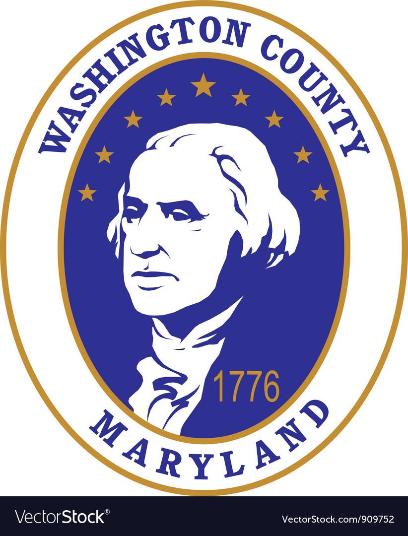 Washington county seal vector | Price: 1 Credit (USD $1)