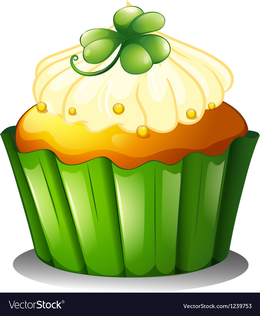A delicious cupcake for st patricks day vector | Price: 1 Credit (USD $1)