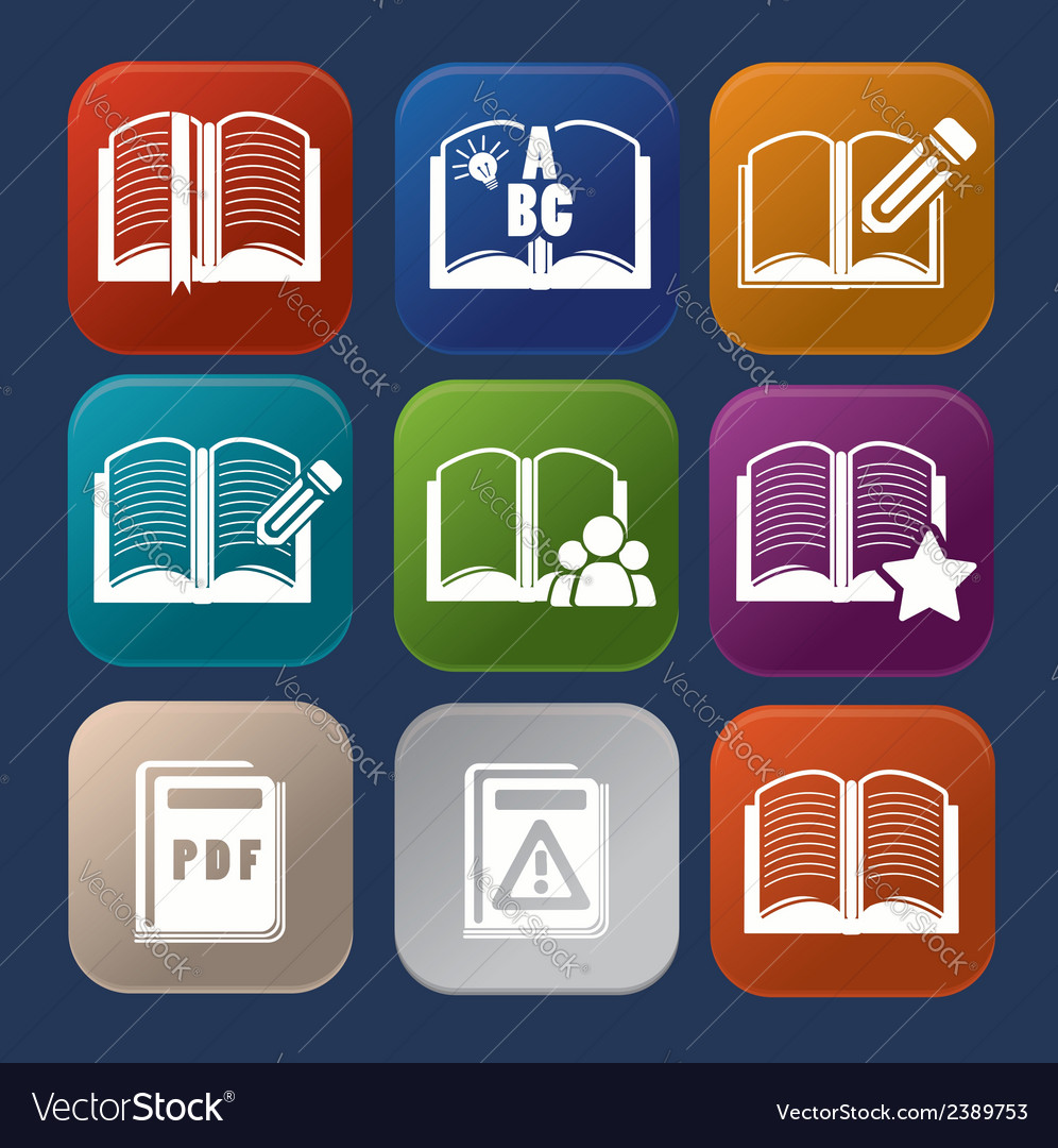 Book set vector | Price: 1 Credit (USD $1)