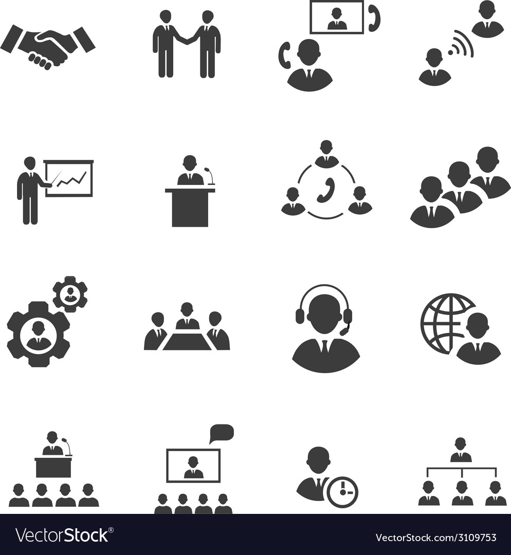 Business people online meeting strategic vector | Price: 1 Credit (USD $1)
