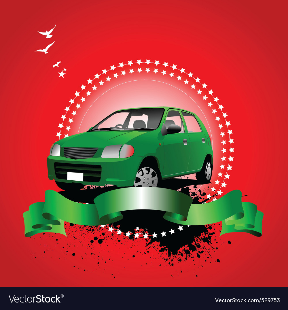Car advertising vector | Price: 1 Credit (USD $1)