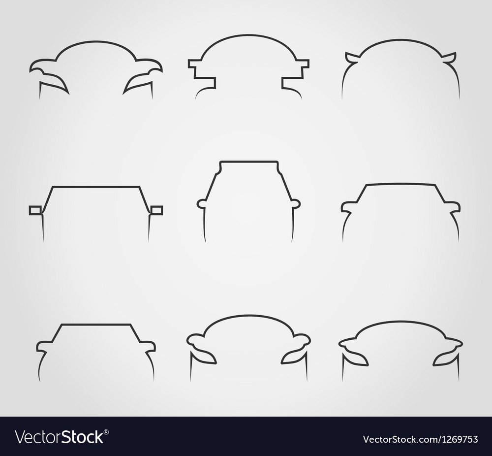 Cars outline icons vector | Price: 1 Credit (USD $1)