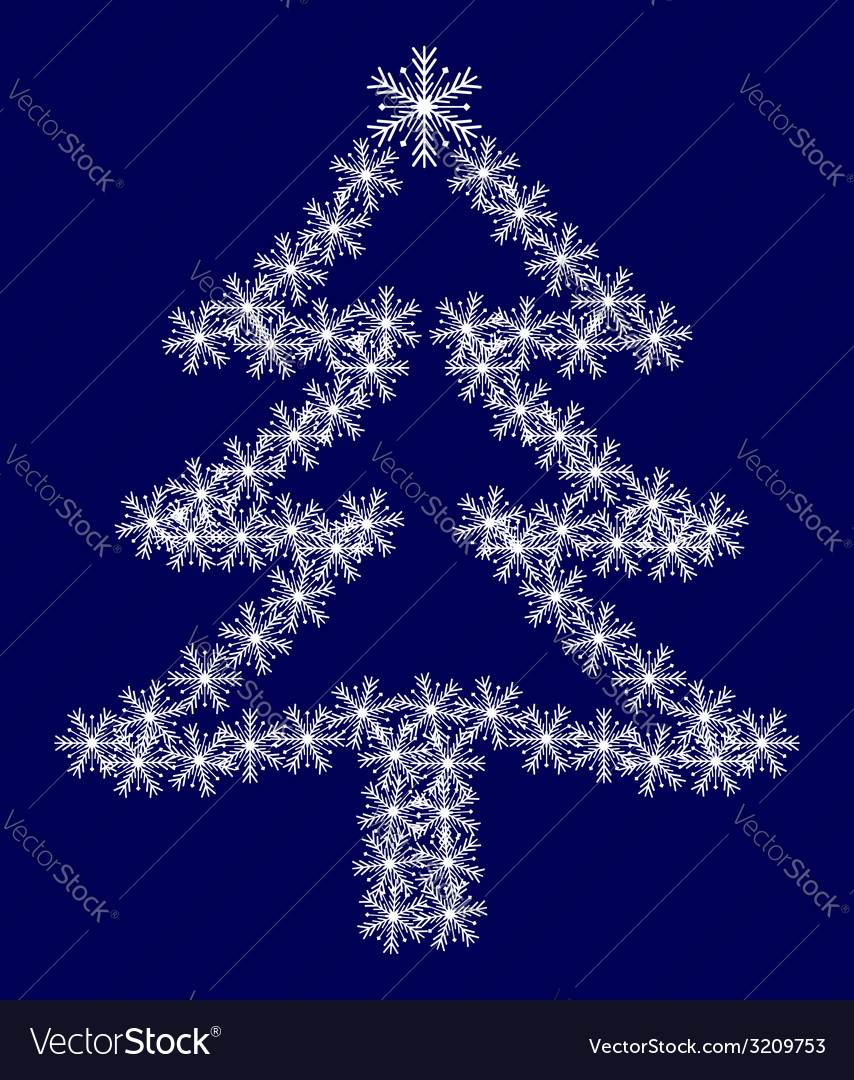 Christmas tree from snowflakes vector | Price: 1 Credit (USD $1)