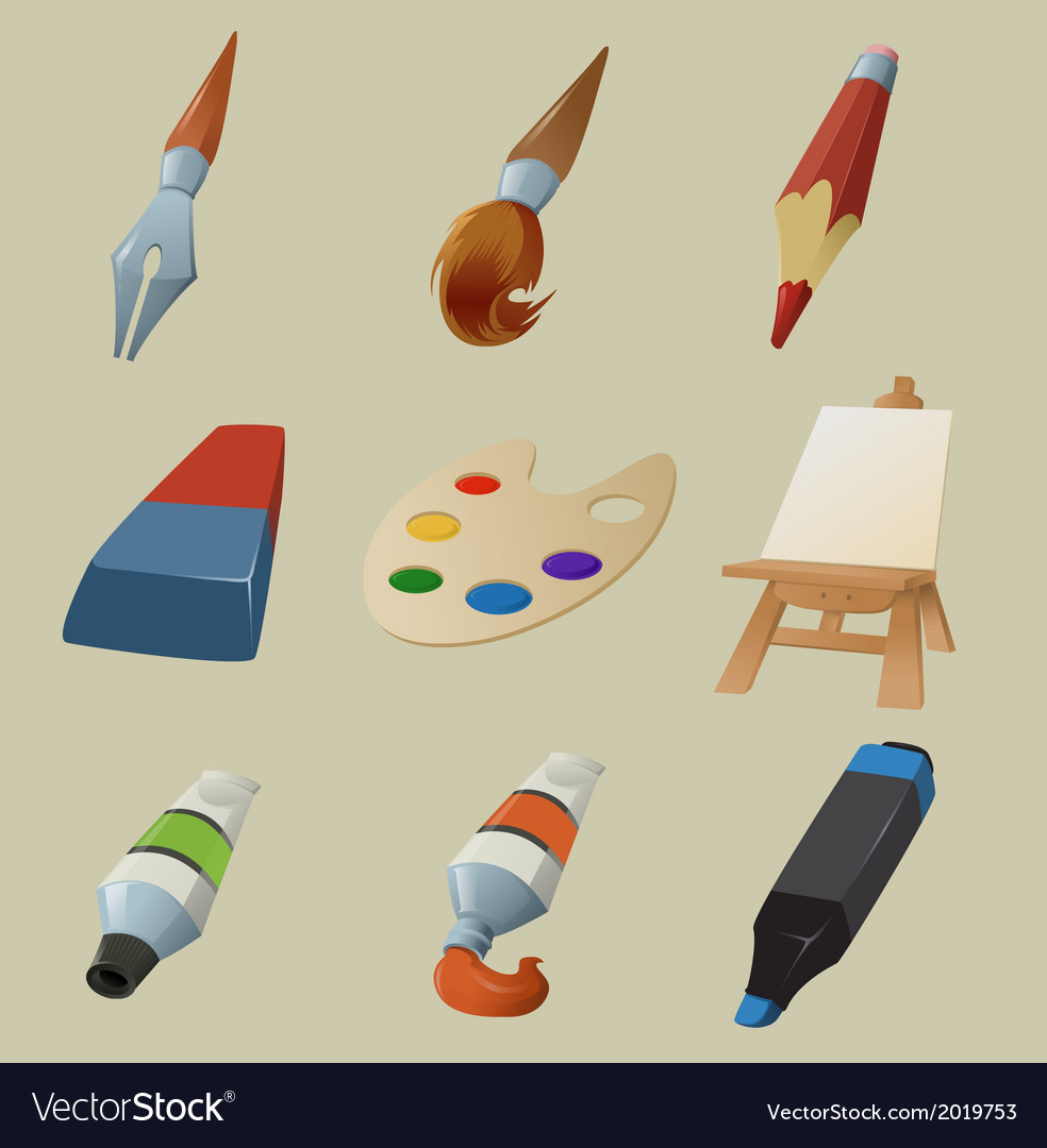 Collection of draw icons vector | Price: 1 Credit (USD $1)