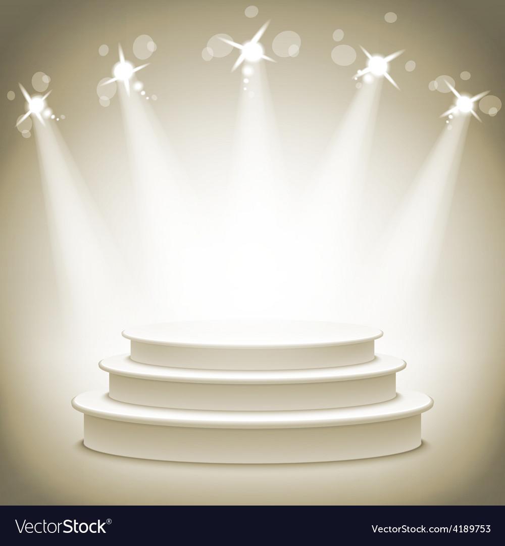 Empty round shelf gold exhibition 3d eps10 podiums vector | Price: 1 Credit (USD $1)
