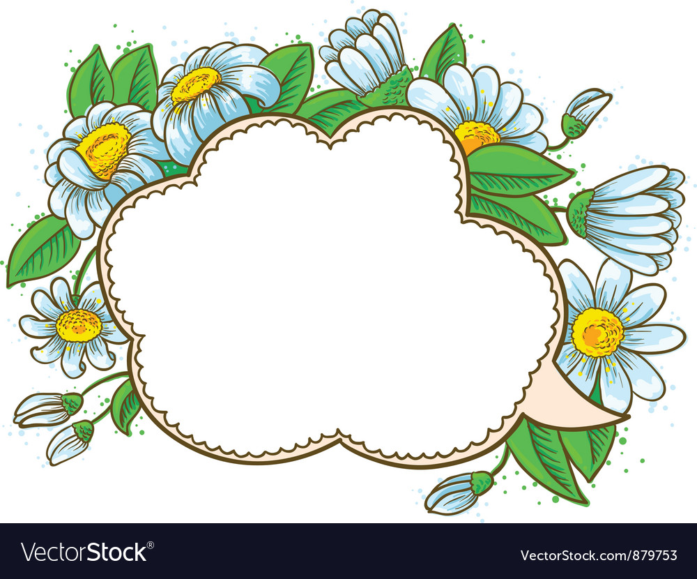 Frame with camomile vector | Price: 1 Credit (USD $1)
