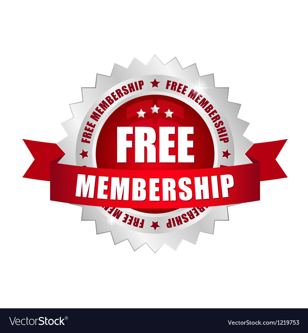 Free membership button vector | Price: 1 Credit (USD $1)