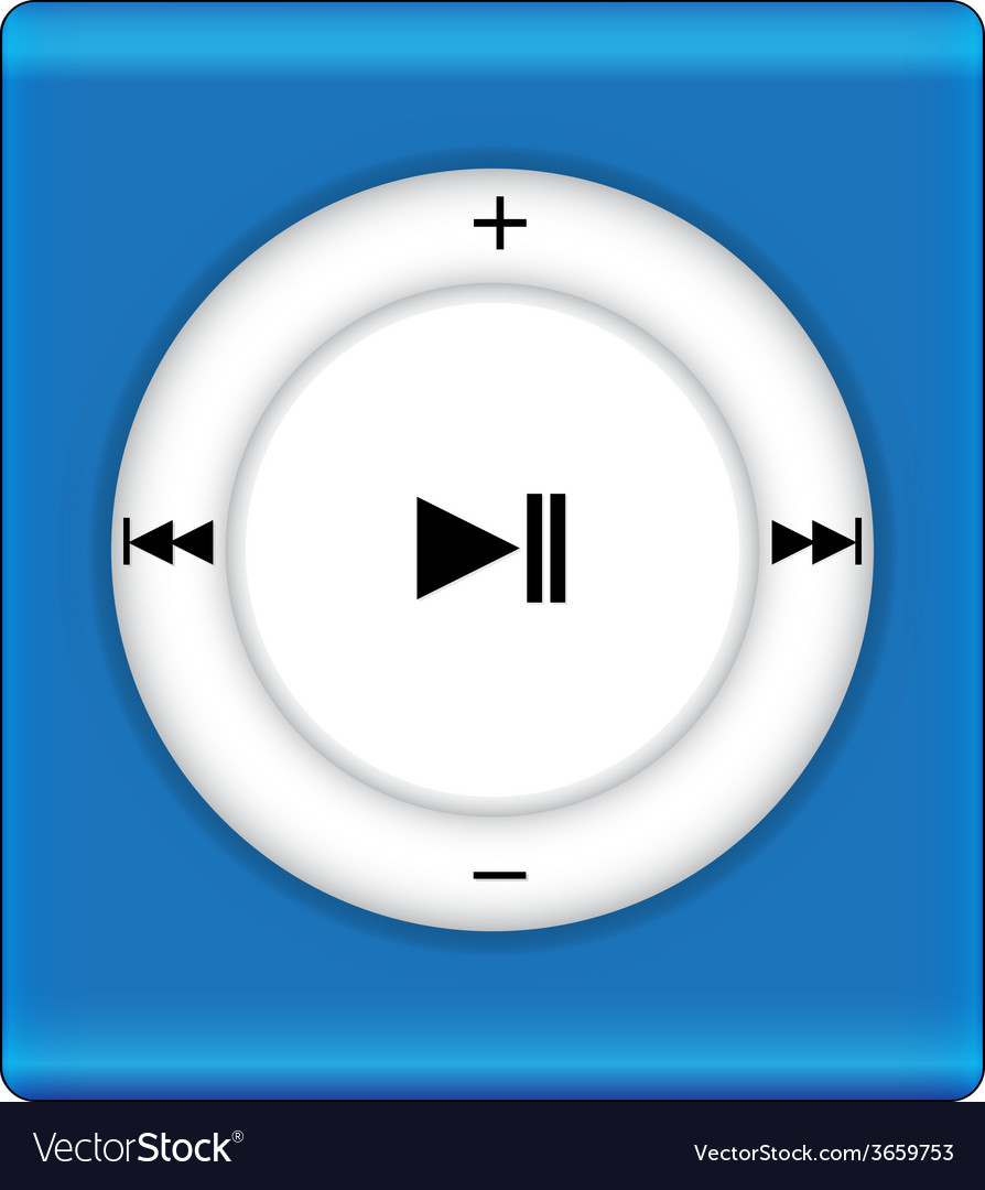 Music playey icon vector | Price: 1 Credit (USD $1)