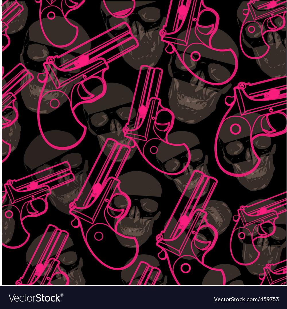 Pistol pattern vector | Price: 1 Credit (USD $1)