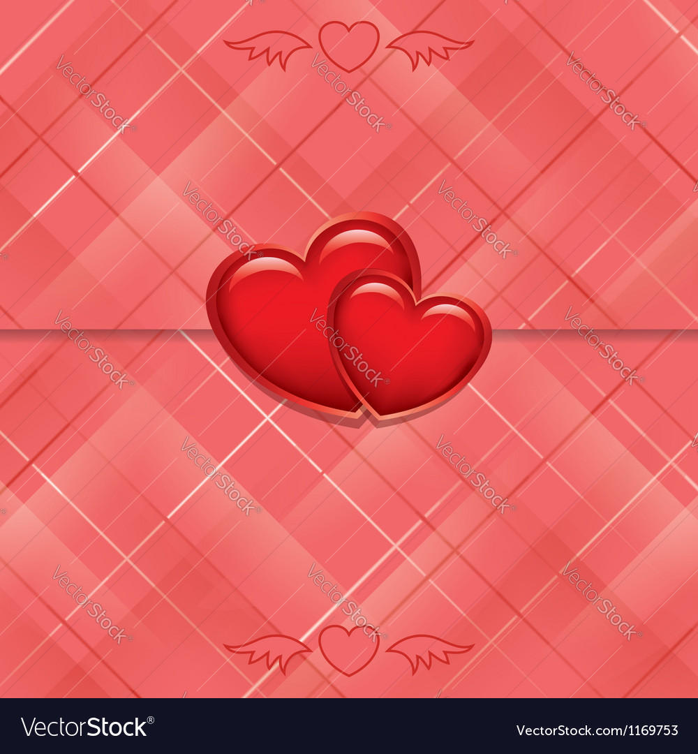 Red card sealed with hearts vector | Price: 1 Credit (USD $1)