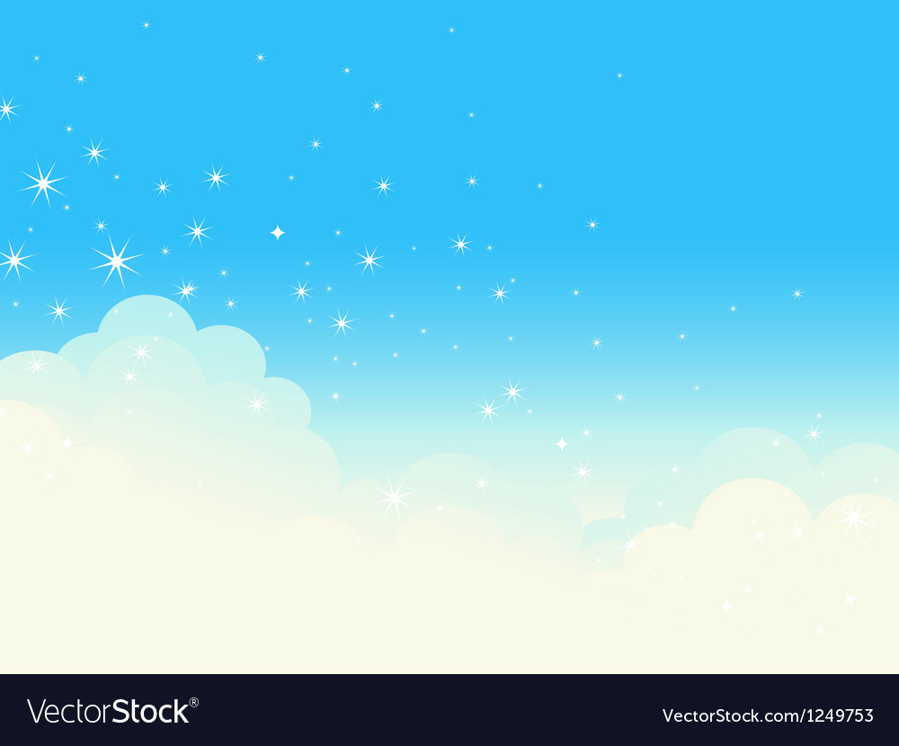 Shiny cloudscape vector | Price: 1 Credit (USD $1)