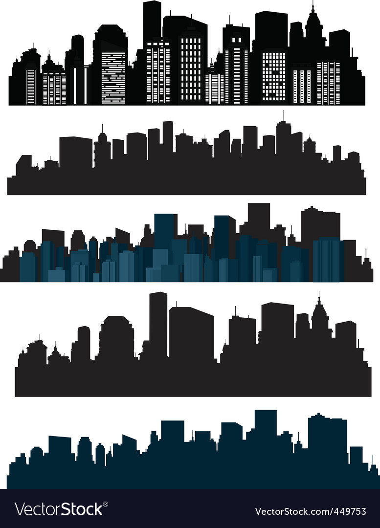 Silhouette cities vector | Price: 1 Credit (USD $1)