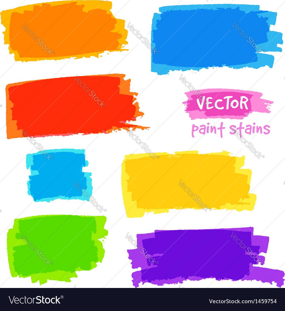 Bright rainbow colors pain spots set vector   Price: 1 Credit (USD $1)