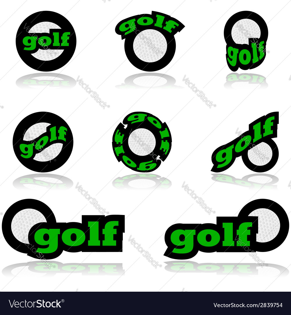 Golf icons vector | Price: 1 Credit (USD $1)