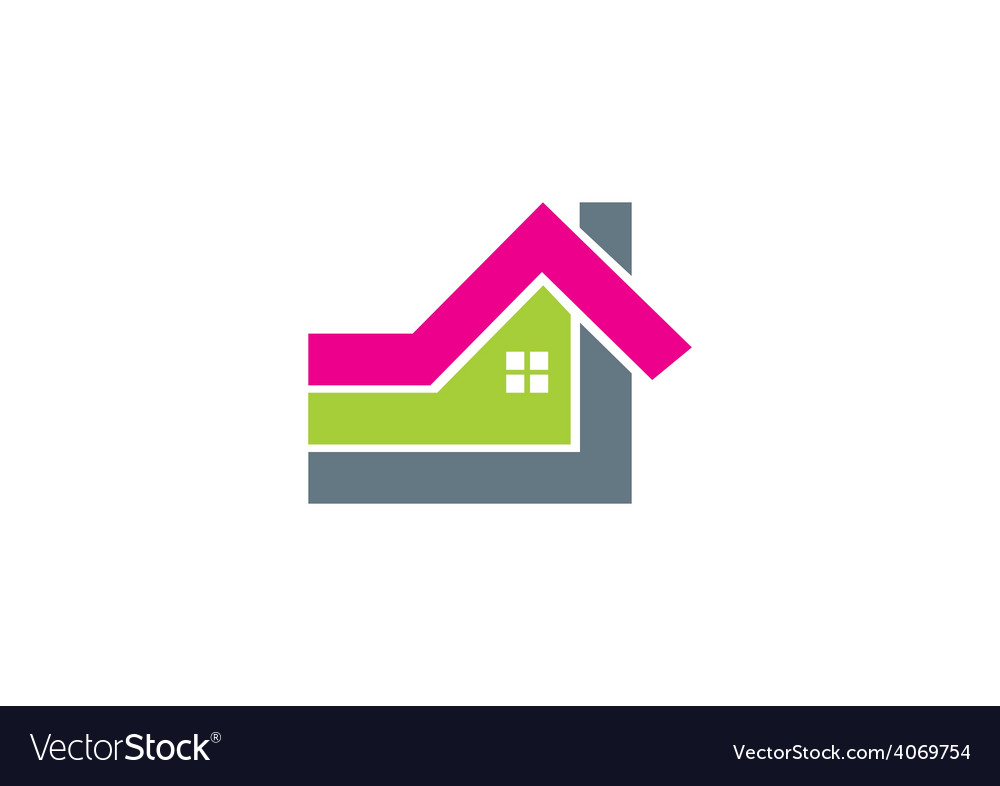 Home abstract shape logo vector | Price: 1 Credit (USD $1)