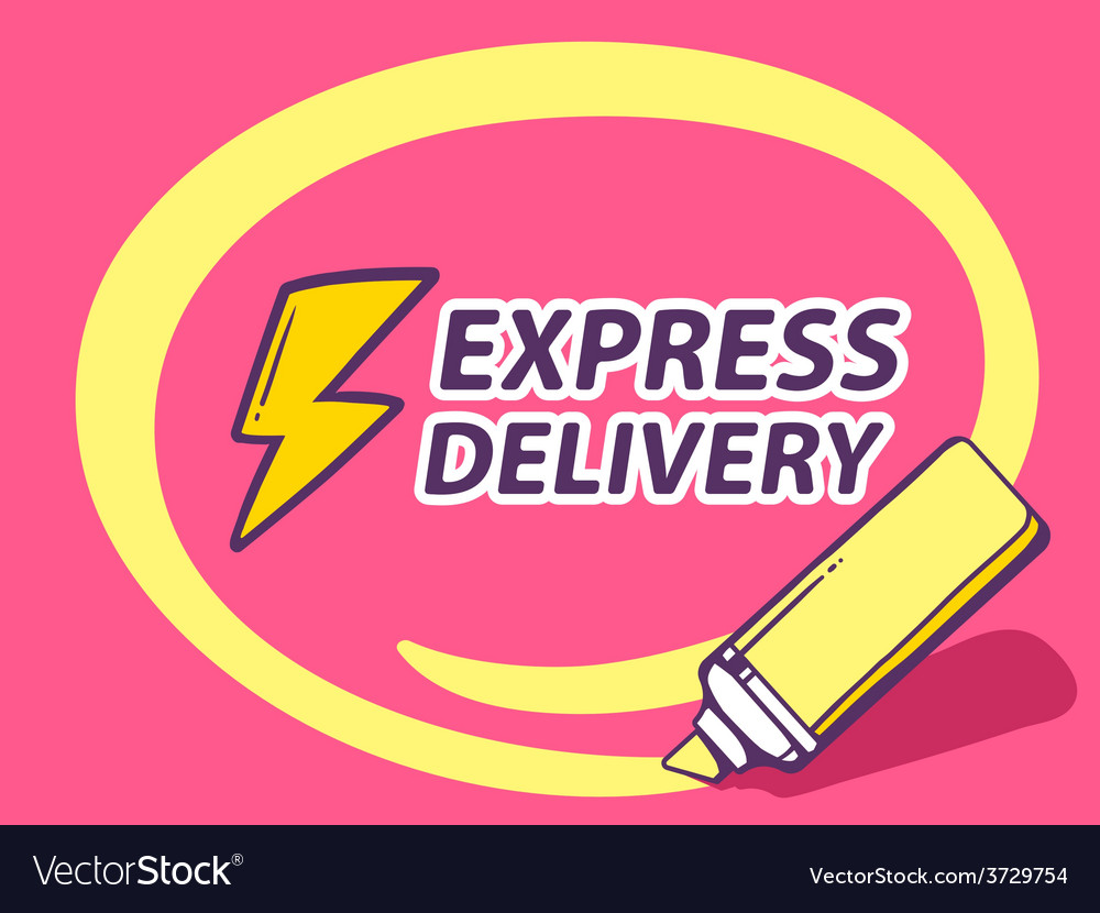 Marker drawing circle around express deli vector | Price: 1 Credit (USD $1)