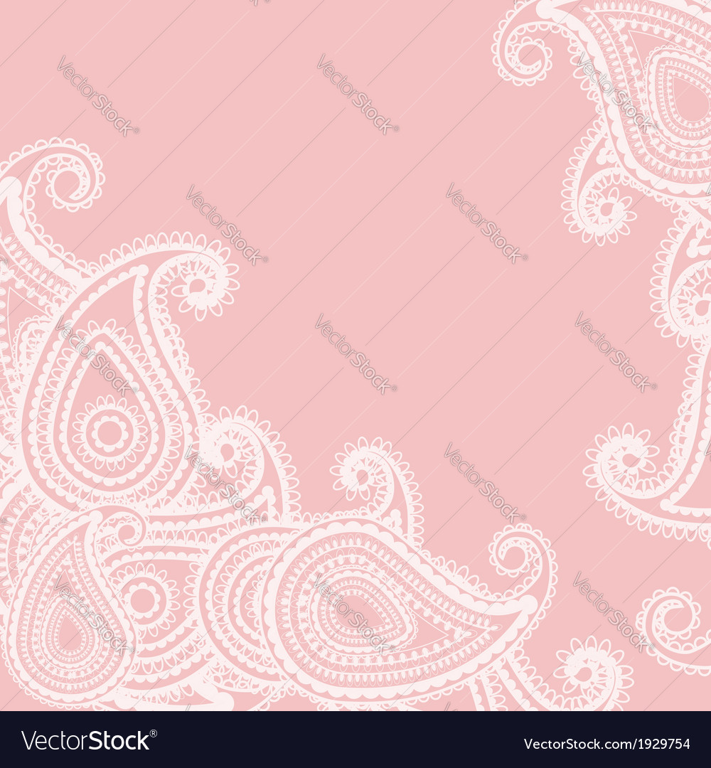 Paisley pink vector | Price: 1 Credit (USD $1)