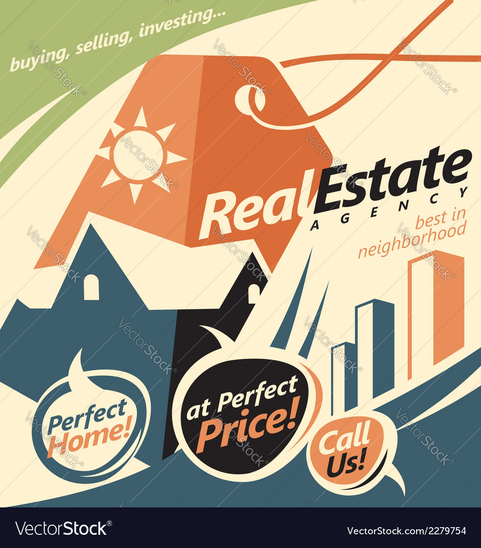 Promotional document template for real estate agen vector   Price: 1 Credit (USD $1)