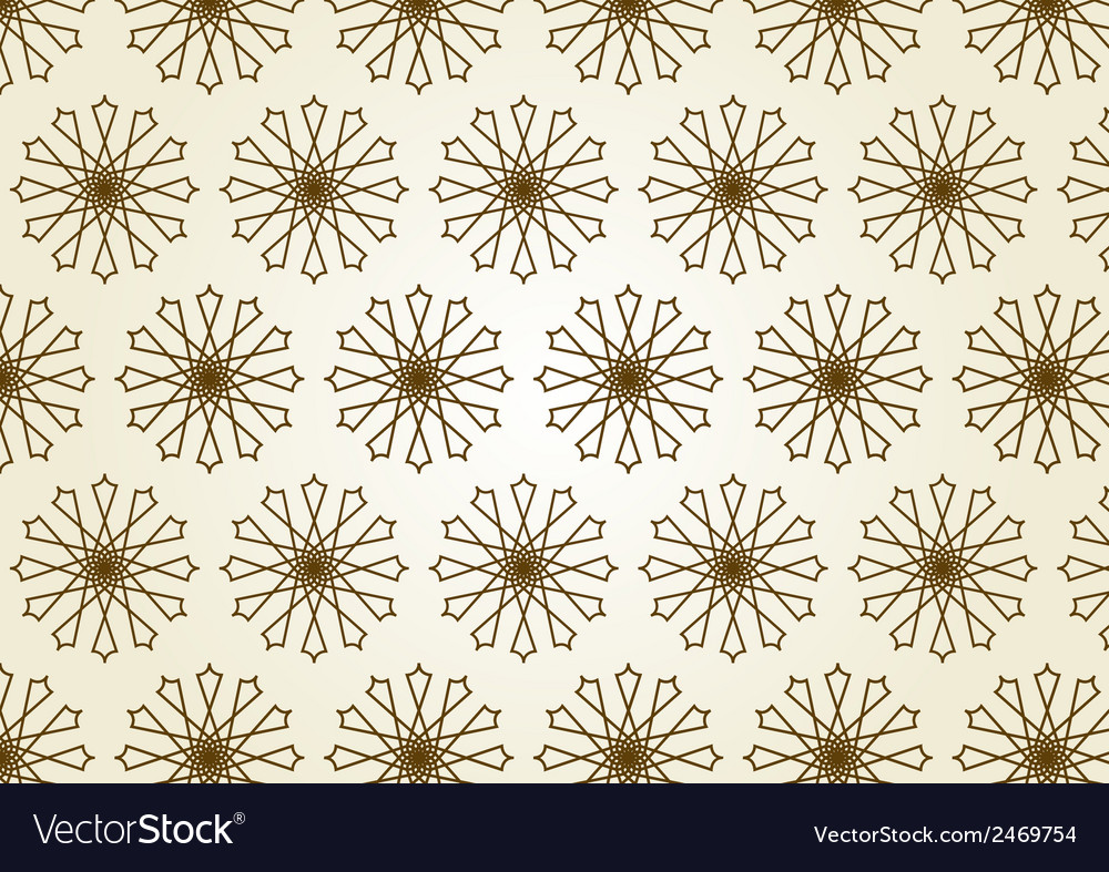 Star circle line and center flower pattern on vector | Price: 1 Credit (USD $1)