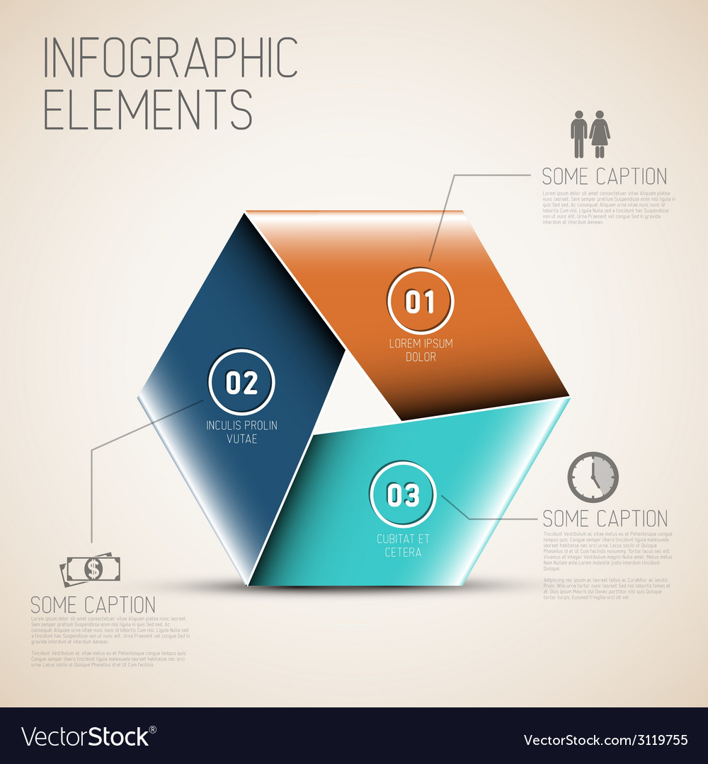 Abstract shape with infographic vector | Price: 1 Credit (USD $1)
