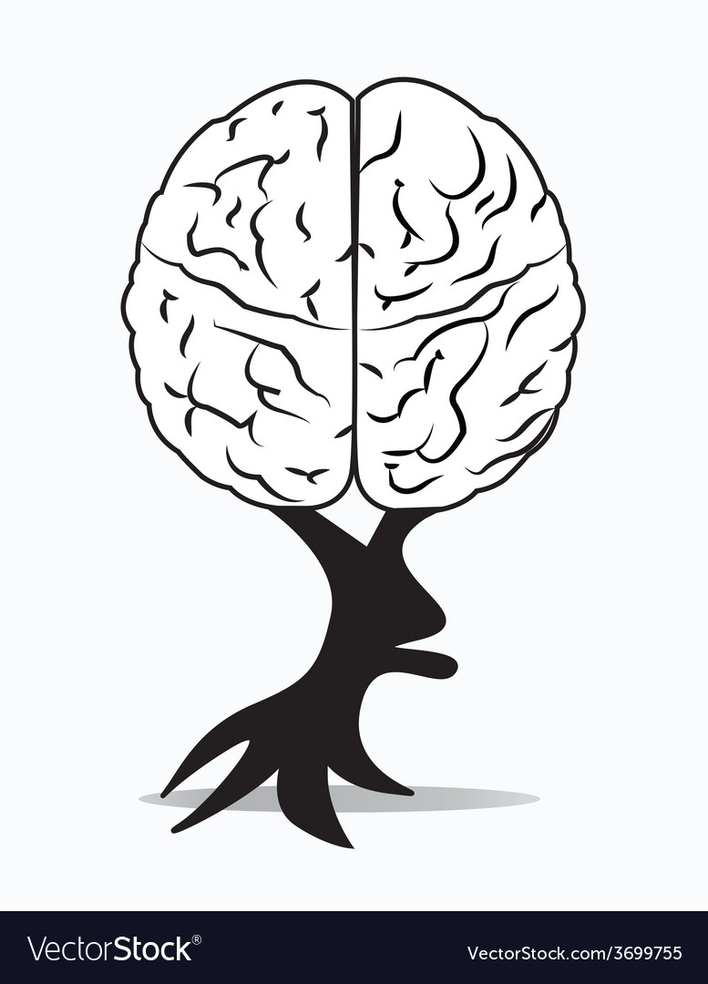 Brain tree vector | Price: 1 Credit (USD $1)
