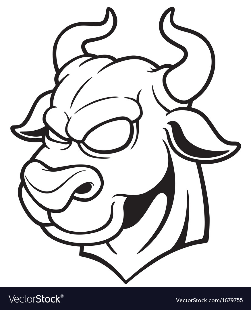 Bull outline vector   Price: 1 Credit (USD $1)