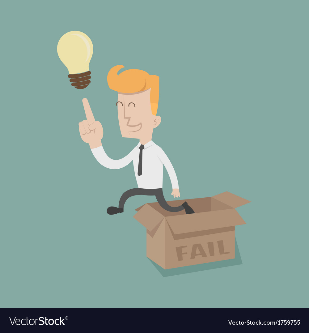 Businessman thinking outside the box vector | Price: 1 Credit (USD $1)