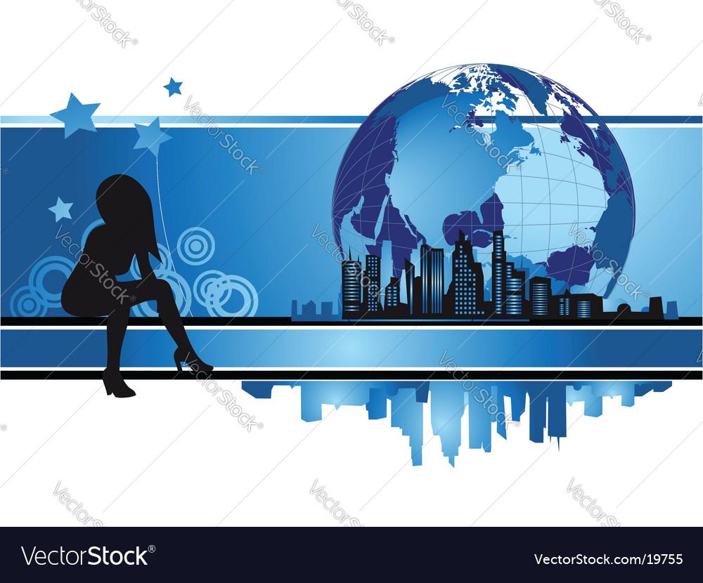 Cityscape urban frame fashion silhouette vector | Price: 1 Credit (USD $1)