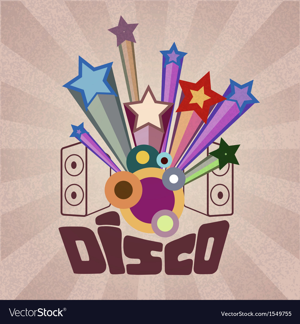 Disco retro background vector | Price: 1 Credit (USD $1)