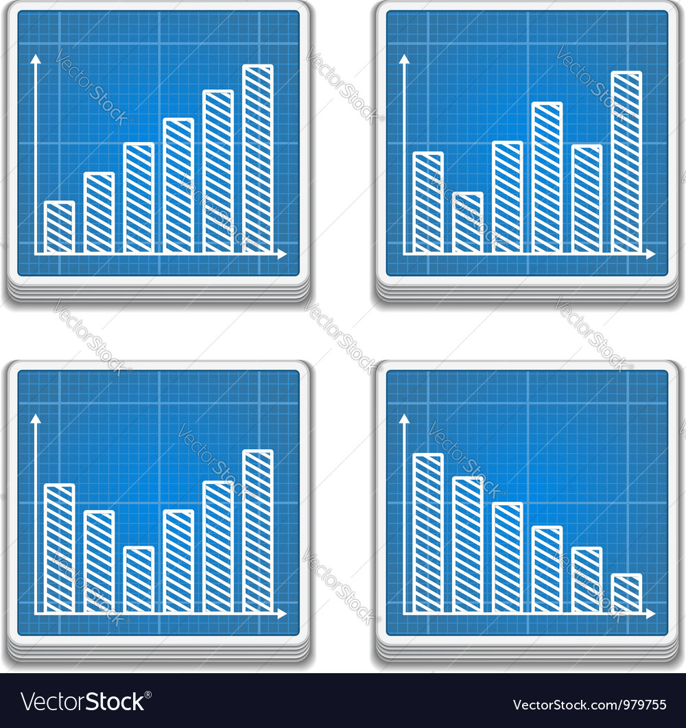 Graphs icons vector | Price: 3 Credit (USD $3)