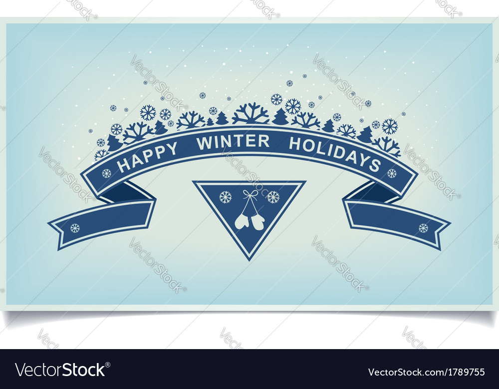 Happy winter holiday greeting design element vector | Price: 1 Credit (USD $1)