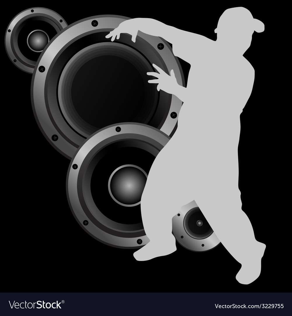 Man dancing and speaker vector | Price: 1 Credit (USD $1)