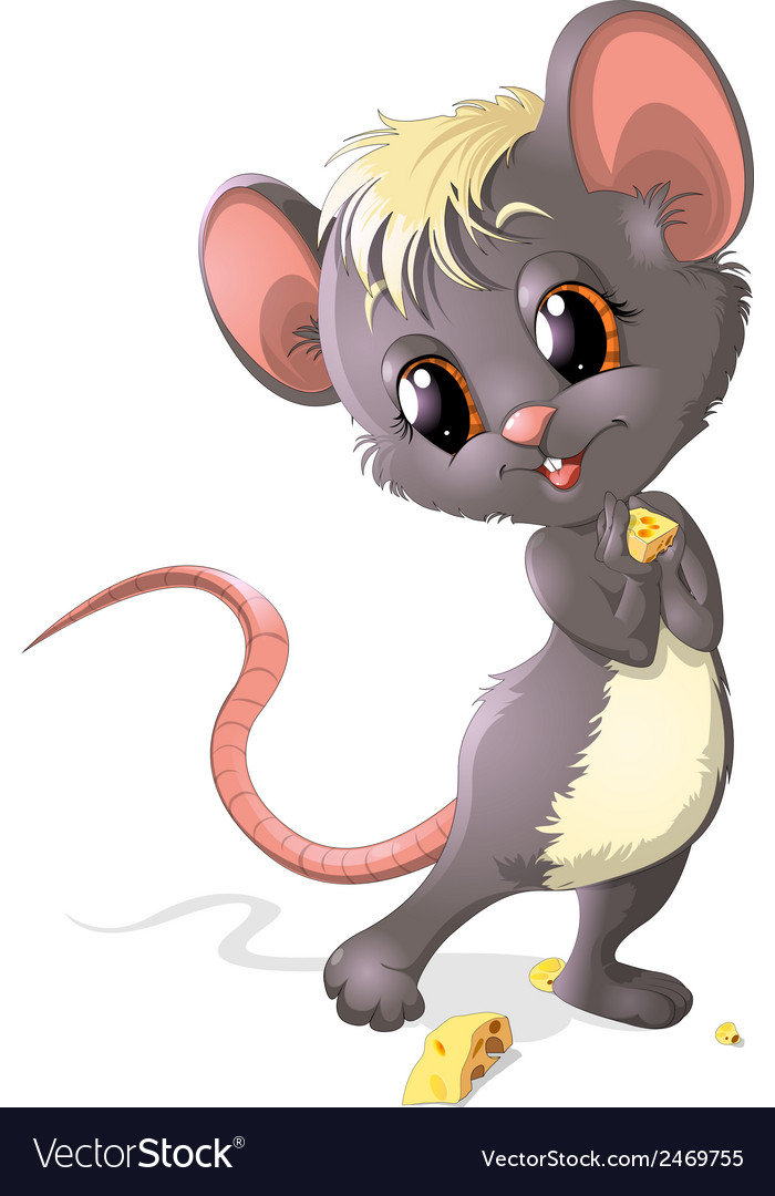 Mouse stesnyaetsay vector | Price: 1 Credit (USD $1)