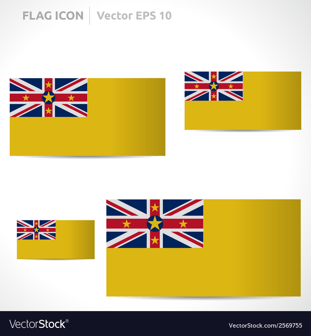 Niue flag template vector | Price: 1 Credit (USD $1)