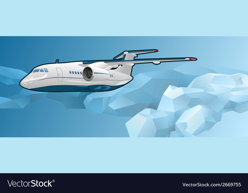 Passenger aircraft vector | Price: 1 Credit (USD $1)
