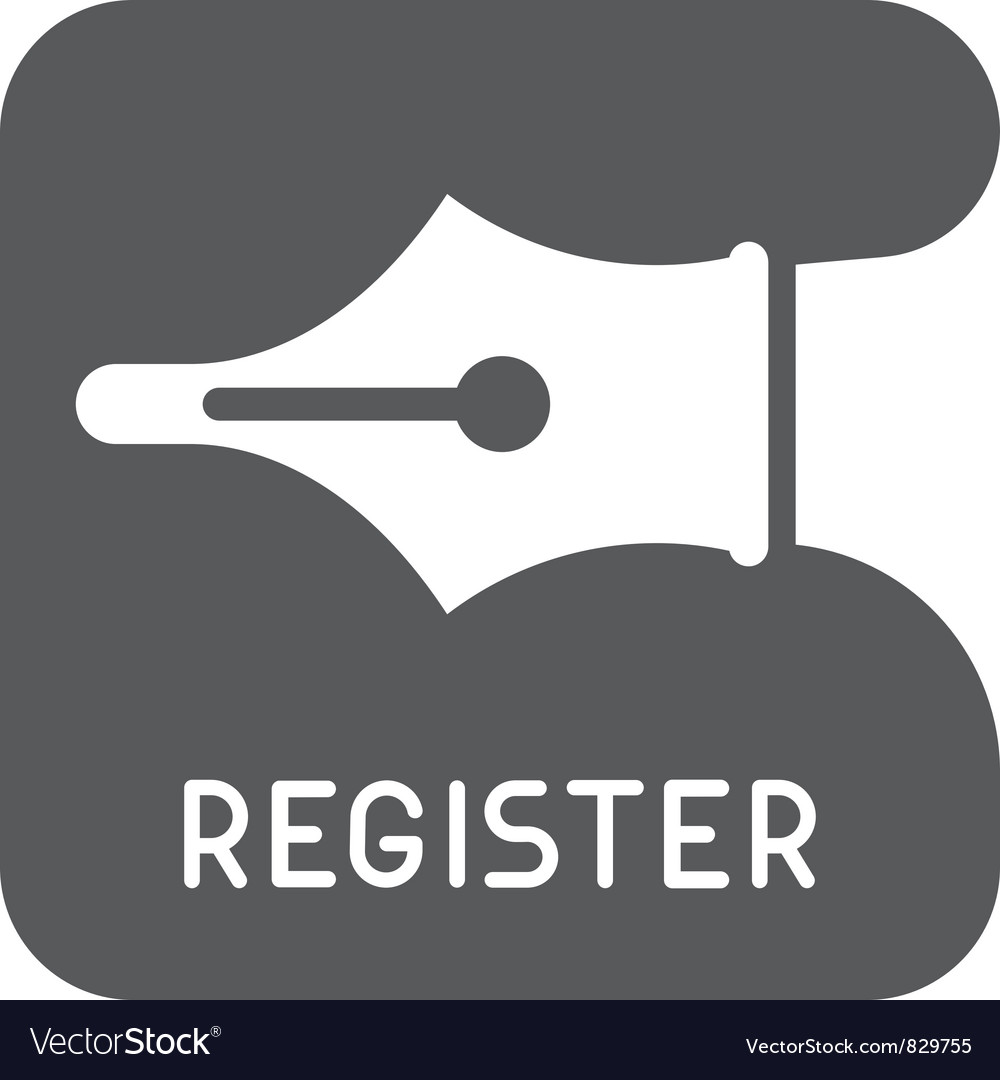 Register icon vector | Price: 1 Credit (USD $1)