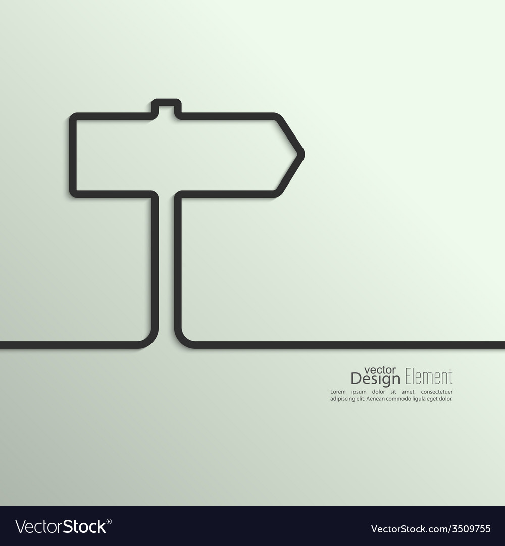 Ribbon in the form of signpost with shadow and vector | Price: 1 Credit (USD $1)