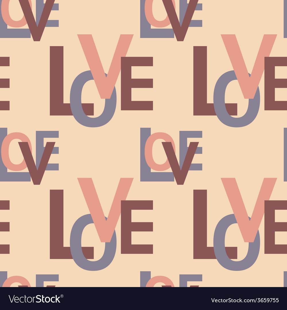 Seamless pattern with love vector | Price: 1 Credit (USD $1)