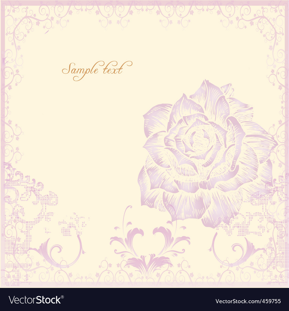 Vintage spring card with rose vector | Price: 1 Credit (USD $1)