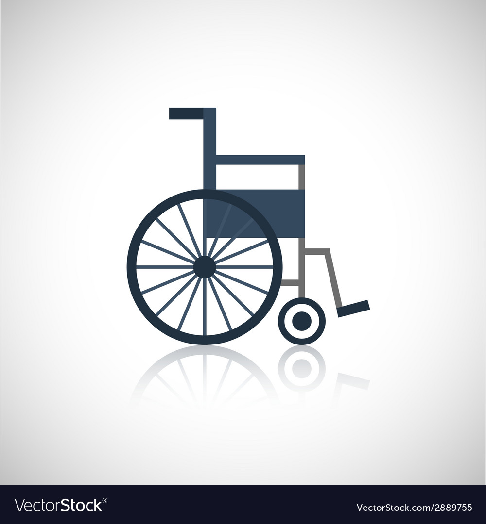 Wheel chair icon flat vector | Price: 1 Credit (USD $1)