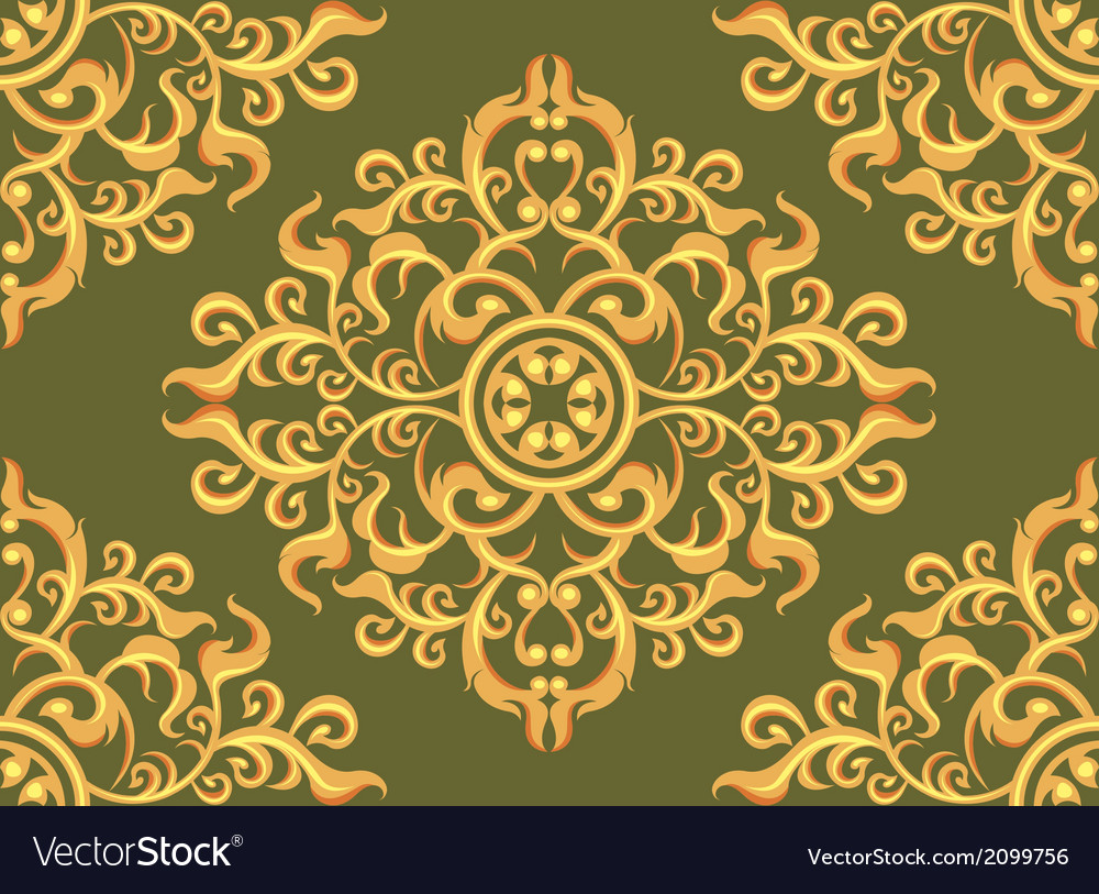 Art pattern wallpaper on green background vector   Price: 1 Credit (USD $1)