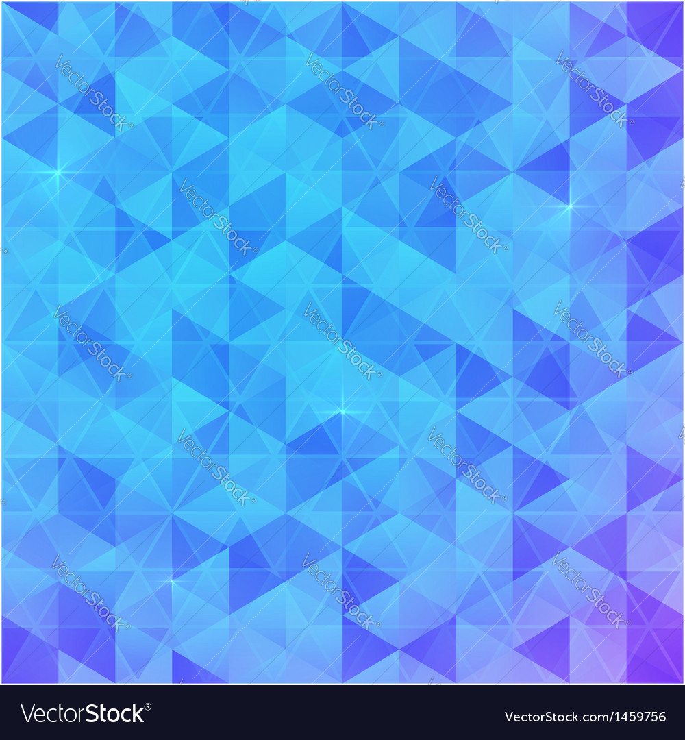 Blue abstract triangles background vector | Price: 1 Credit (USD $1)