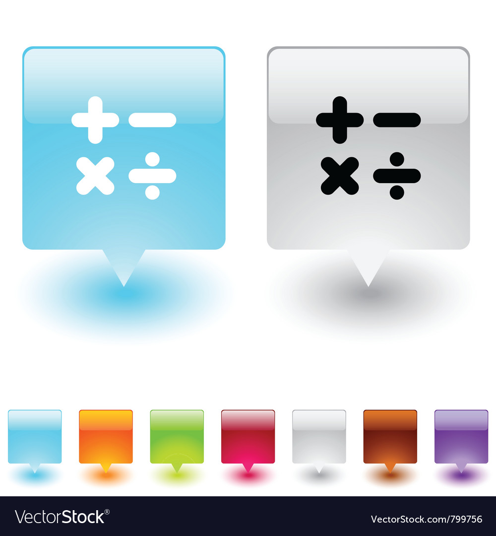 Calculate square button vector | Price: 1 Credit (USD $1)
