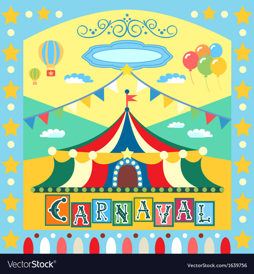 Carnival poster vector | Price: 1 Credit (USD $1)