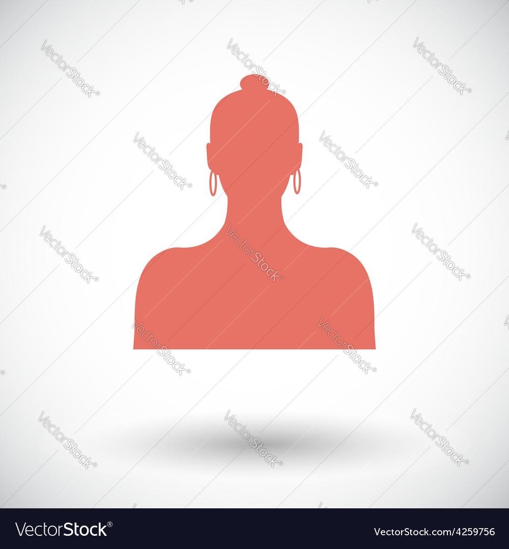 Female avatar single icon vector   Price: 1 Credit (USD $1)